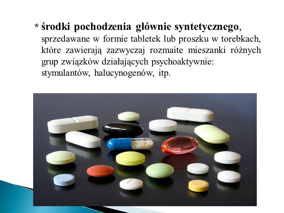 * środki pochodzenia głównie syntetycznego,