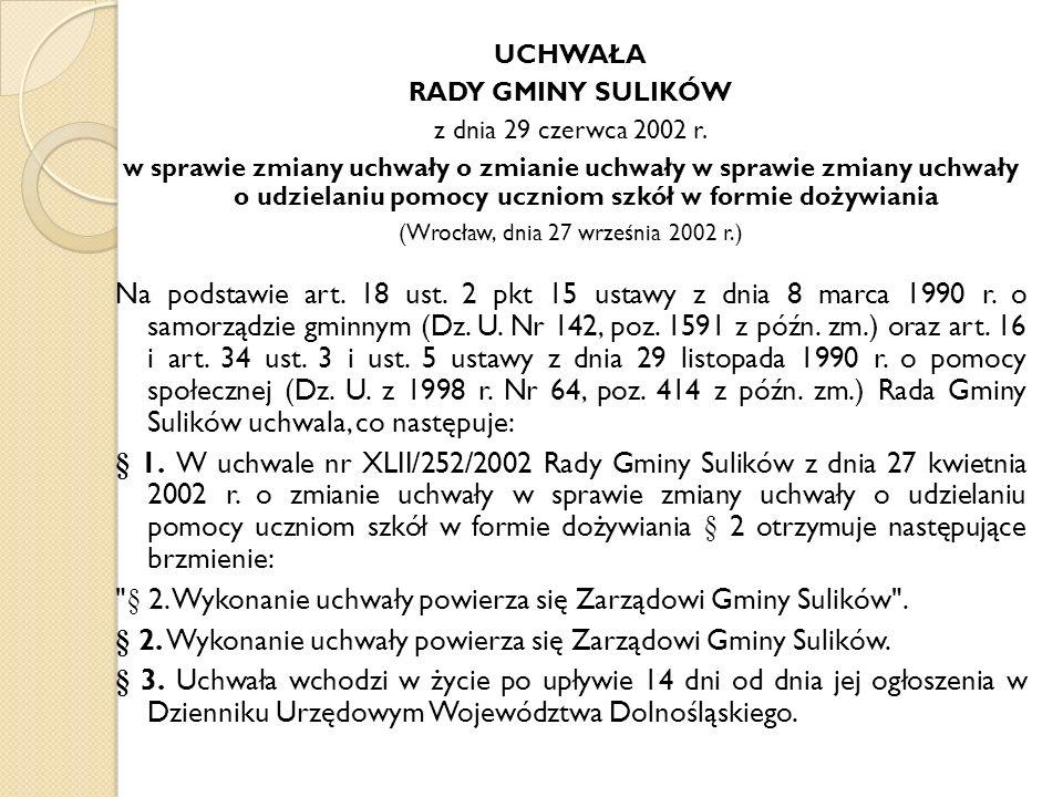 (Wrocław, dnia 27 września 2002 r.)