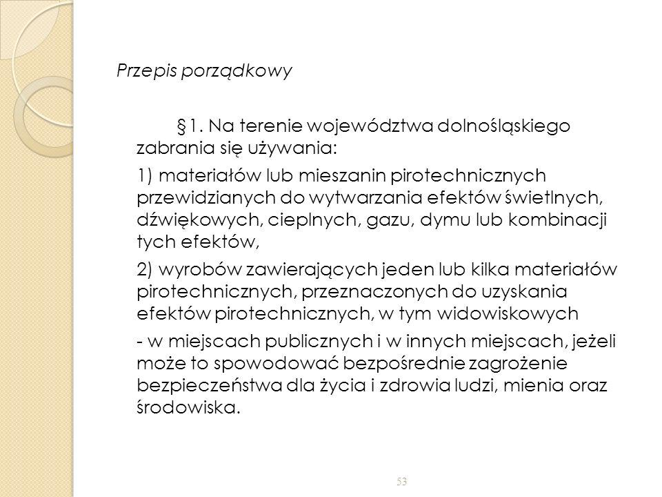 Przepis porządkowy §1.