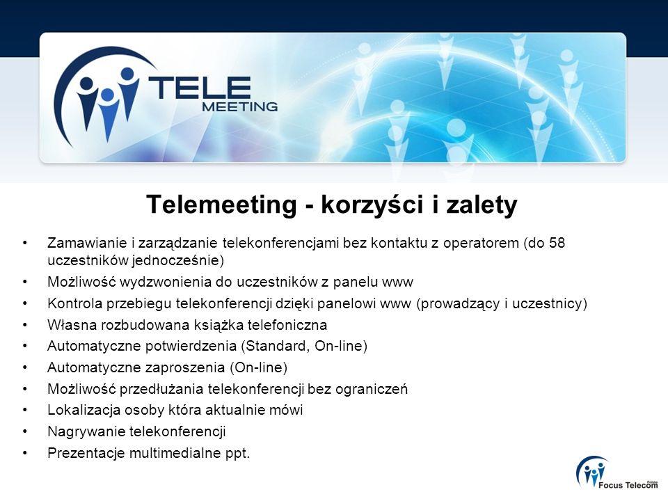 Telemeeting - korzyści i zalety