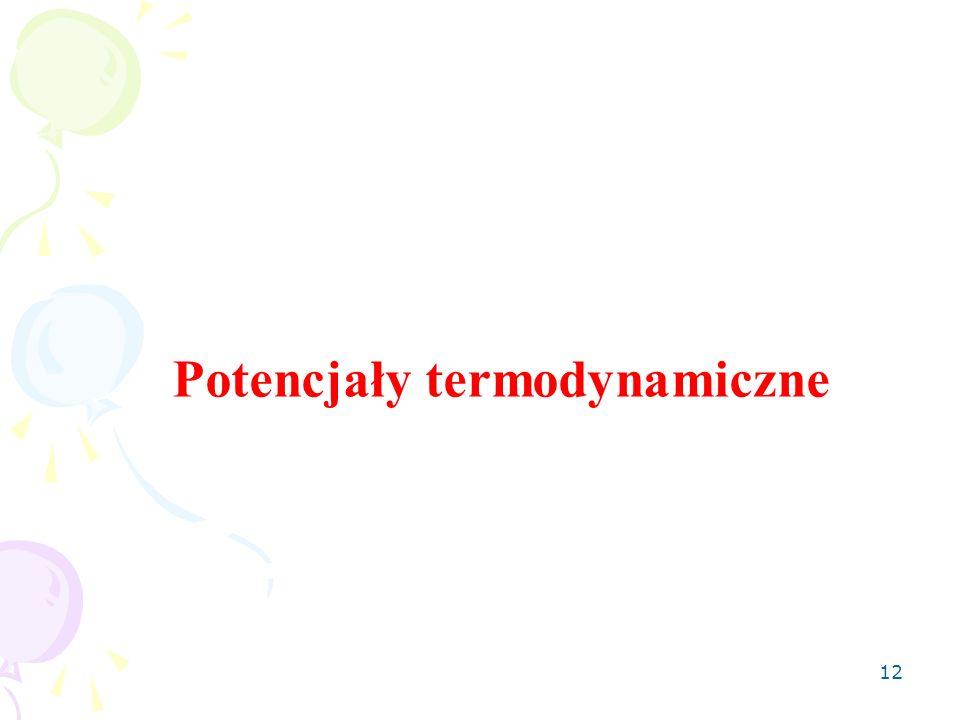 Potencjały termodynamiczne