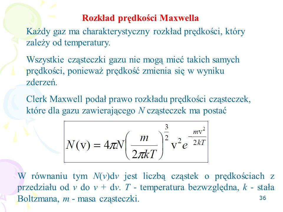 Rozkład prędkości Maxwella