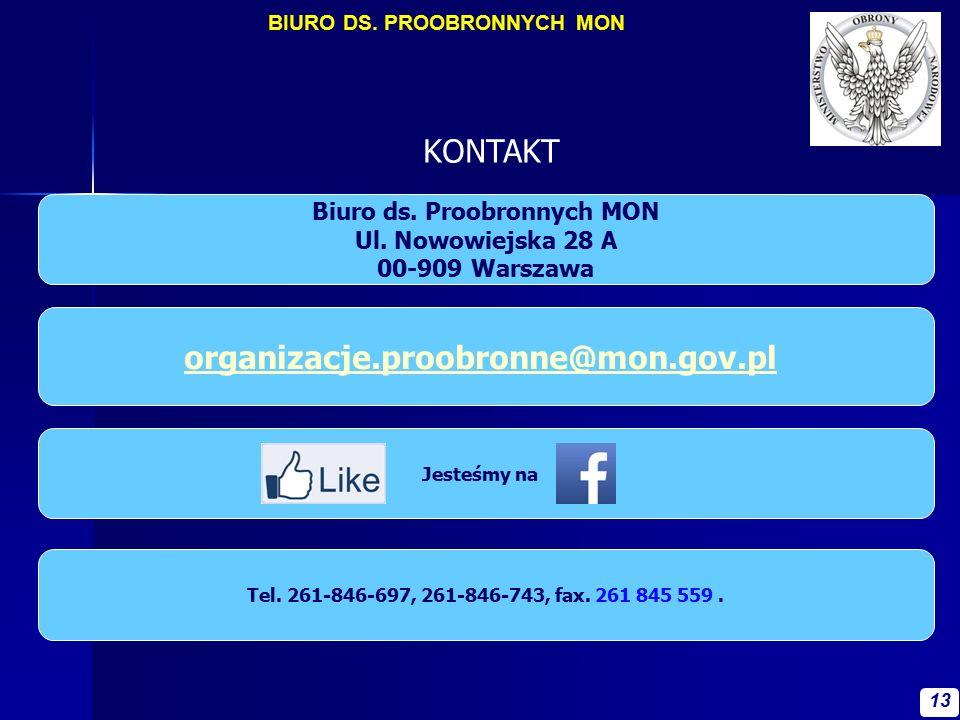 BIURO DS. PROOBRONNYCH MON Biuro ds. Proobronnych MON