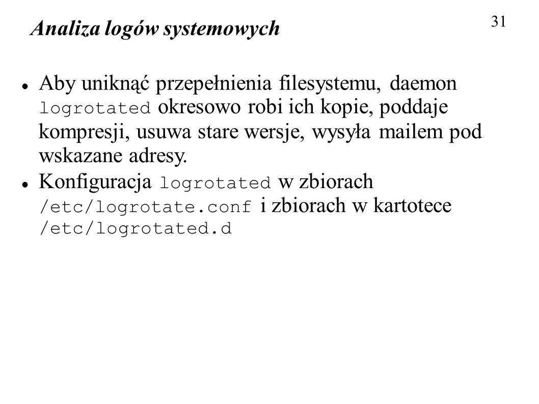 Analiza logów systemowych