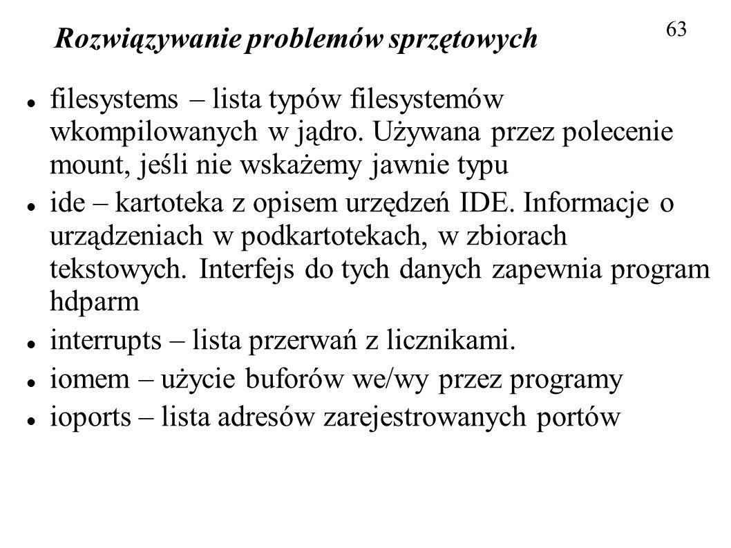 Rozwiązywanie problemów sprzętowych