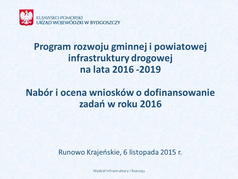 Runowo Krajeńskie, 6 listopada 2015 r.
