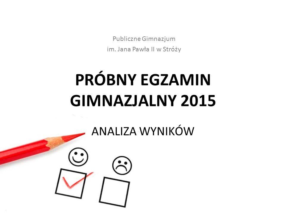 PRÓBNY EGZAMIN GIMNAZJALNY 2015