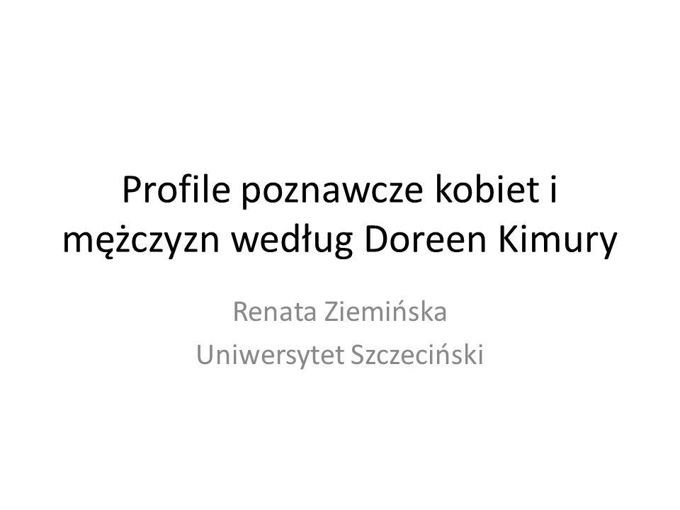 Profile poznawcze kobiet i mężczyzn według Doreen Kimury