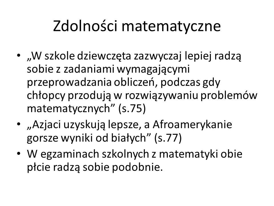 Zdolności matematyczne