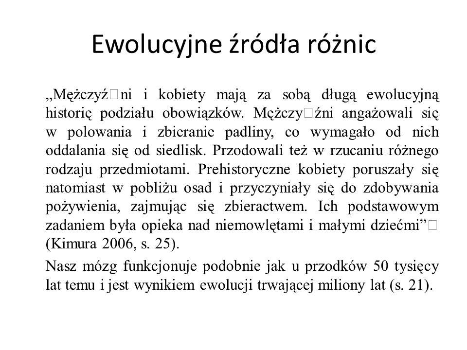 Ewolucyjne źródła różnic