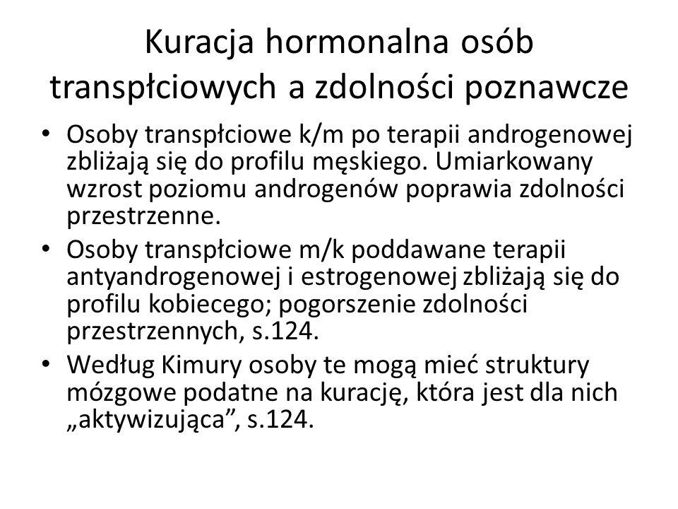 Kuracja hormonalna osób transpłciowych a zdolności poznawcze
