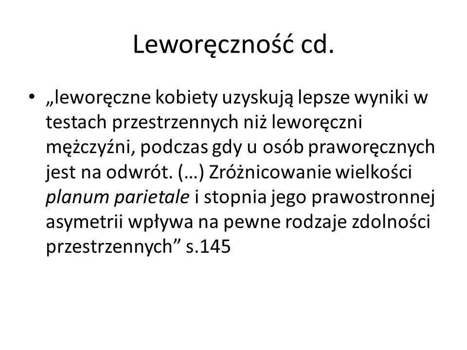 Leworęczność cd.