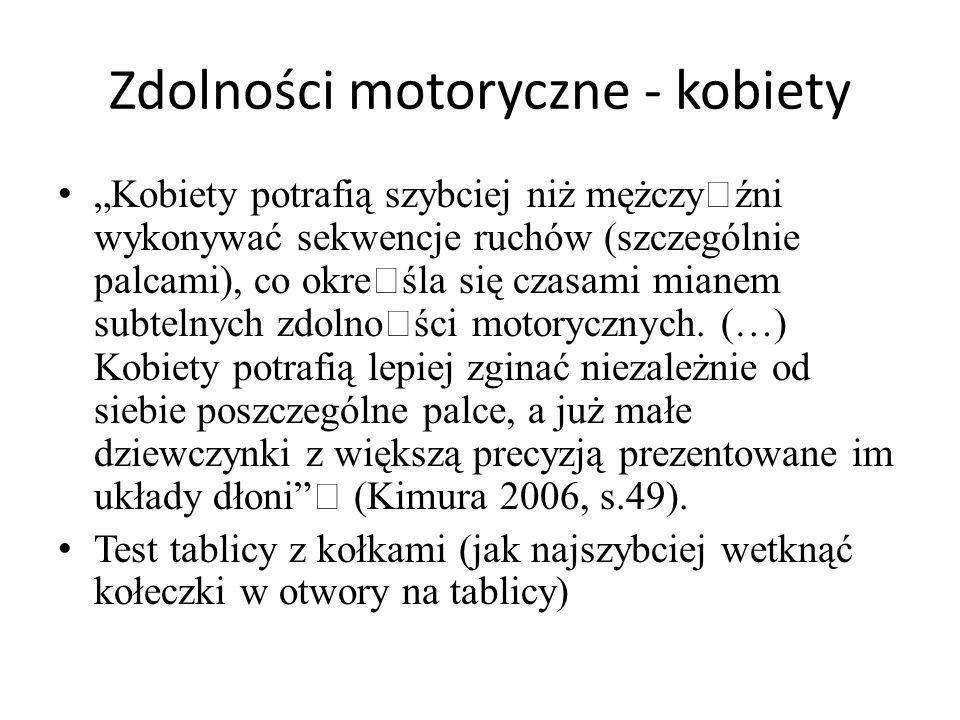 Zdolności motoryczne - kobiety