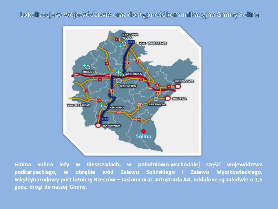 Lokalizacja w województwie oraz dostępność komunikacyjna Gminy Solina