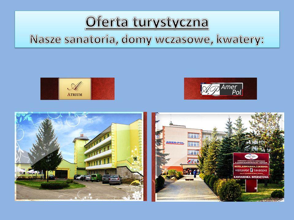 Oferta turystyczna Nasze sanatoria, domy wczasowe, kwatery: