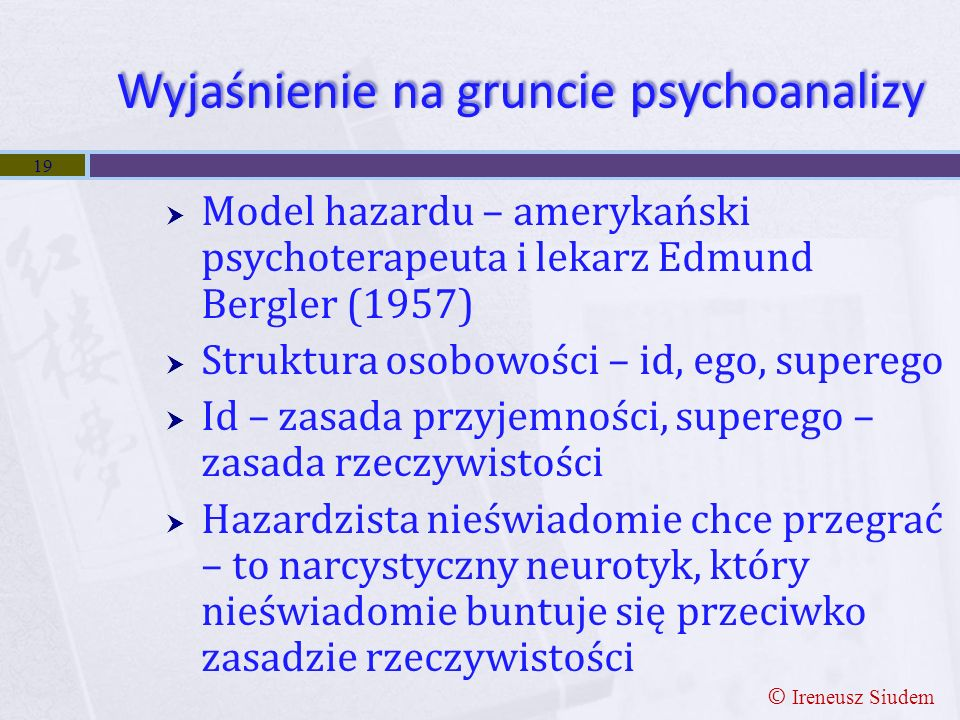 Wyjaśnienie na gruncie psychoanalizy
