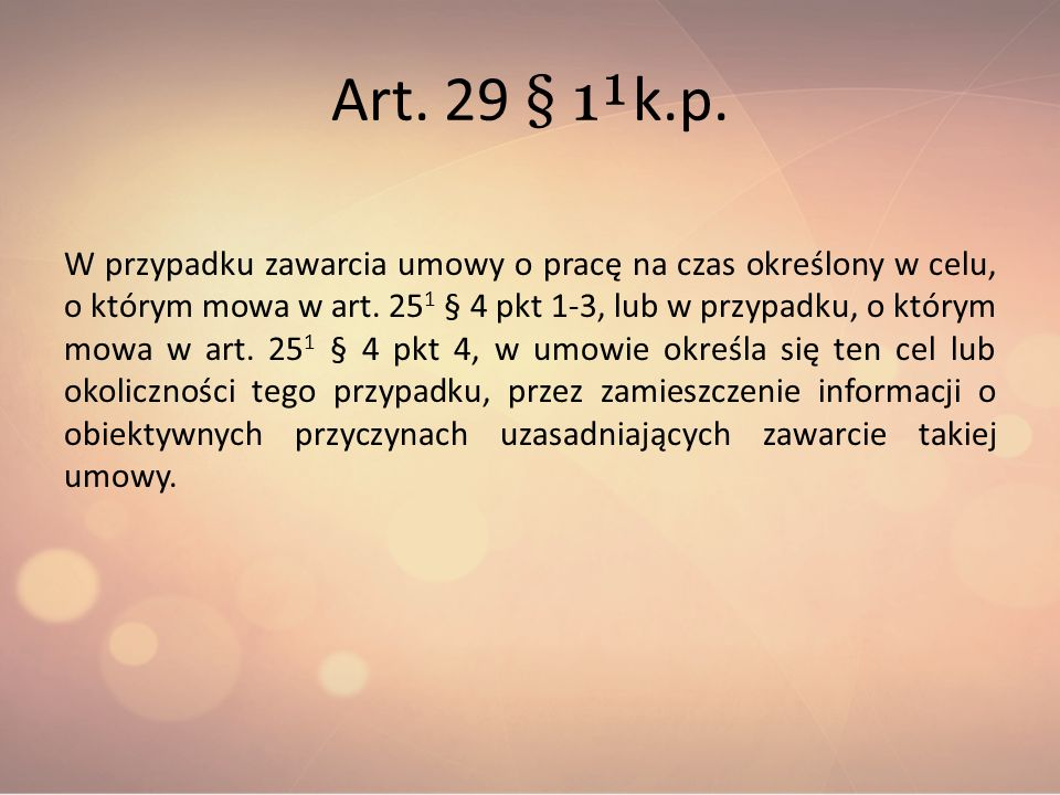 Art. 29 § 1¹k.p.