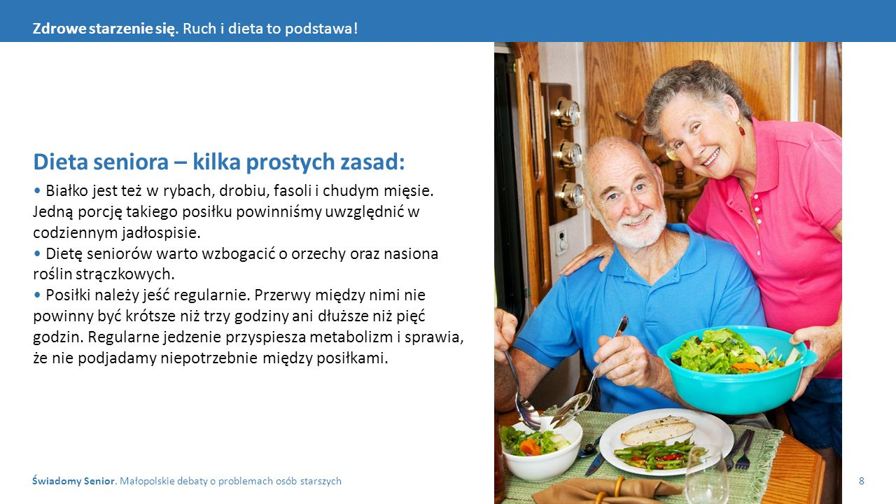 Dieta seniora – kilka prostych zasad:
