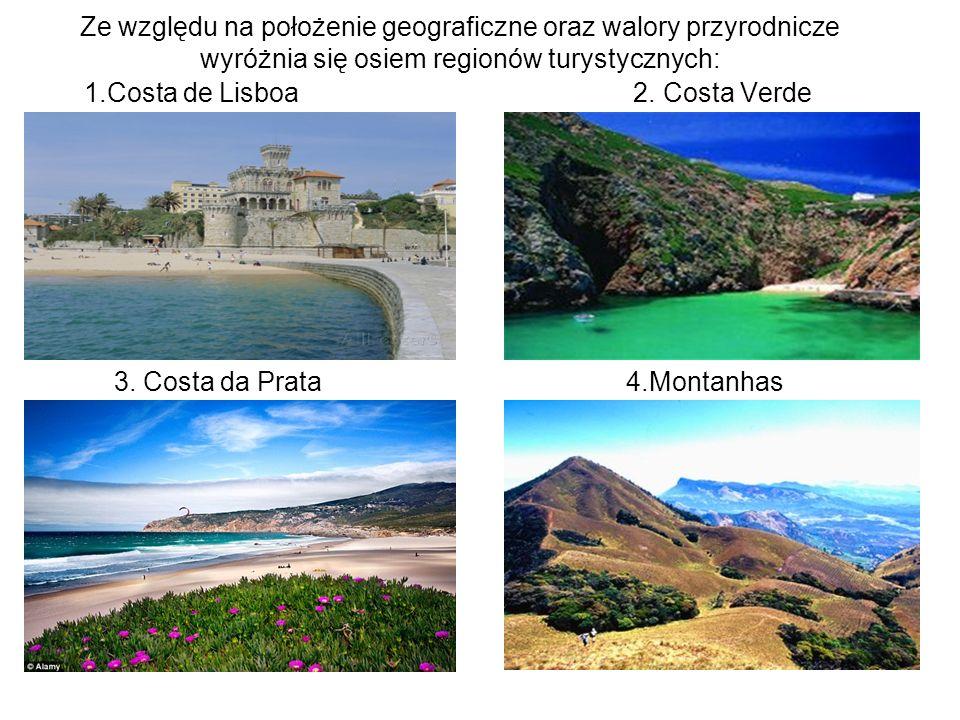 Ze względu na położenie geograficzne oraz walory przyrodnicze wyróżnia się osiem regionów turystycznych: