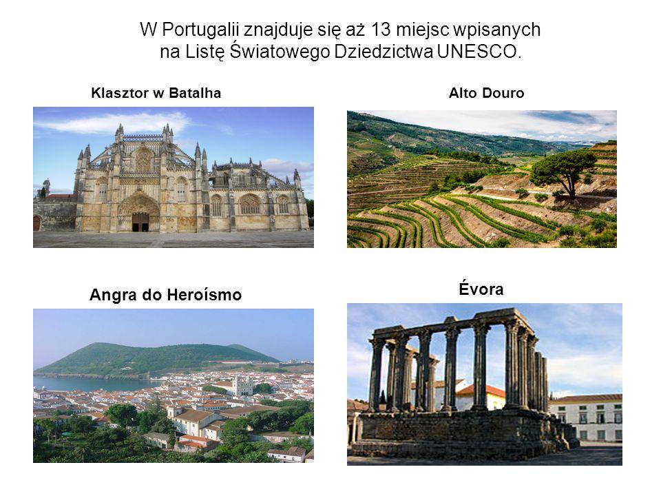 W Portugalii znajduje się aż 13 miejsc wpisanych na Listę Światowego Dziedzictwa UNESCO.