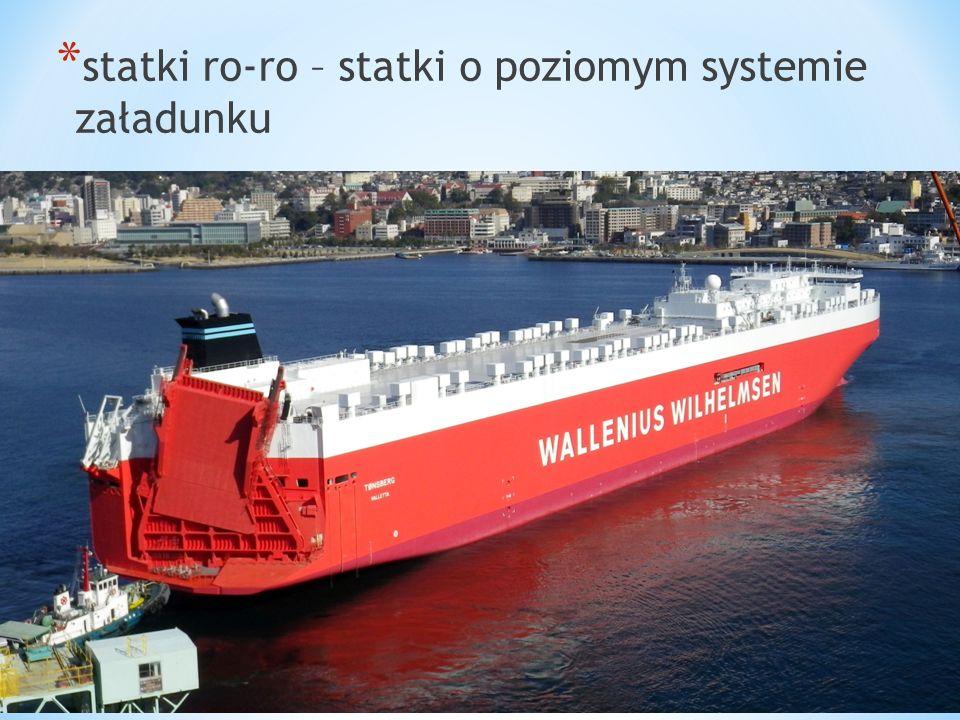 statki ro-ro – statki o poziomym systemie załadunku
