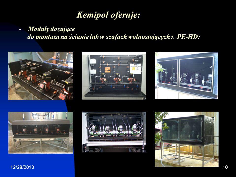 Kemipol oferuje: Moduły dozujące