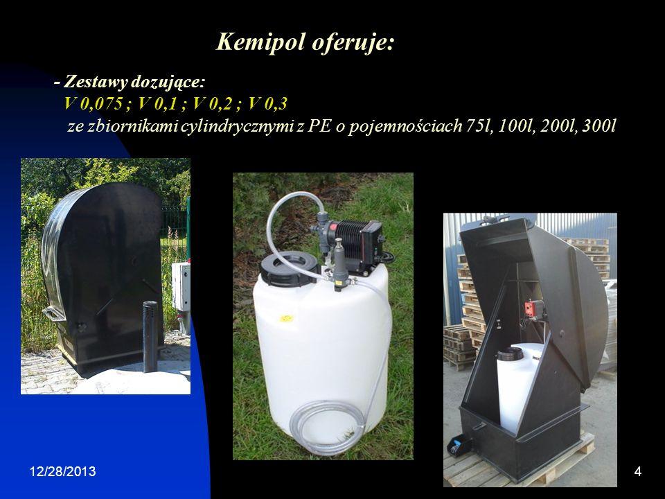 Kemipol oferuje: - Zestawy dozujące: