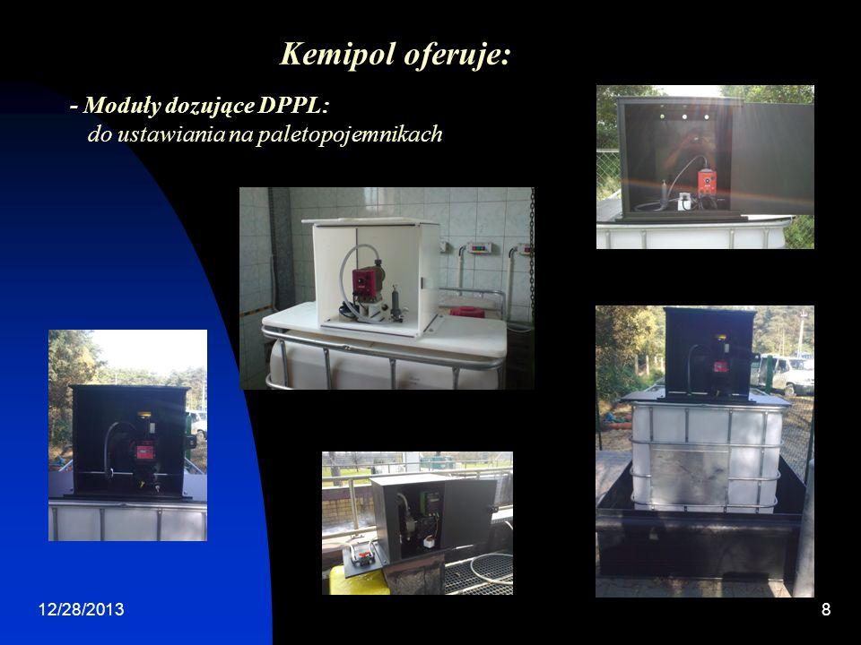 Kemipol oferuje: - Moduły dozujące DPPL: do ustawiania na paletopojemnikach 3/24/2017