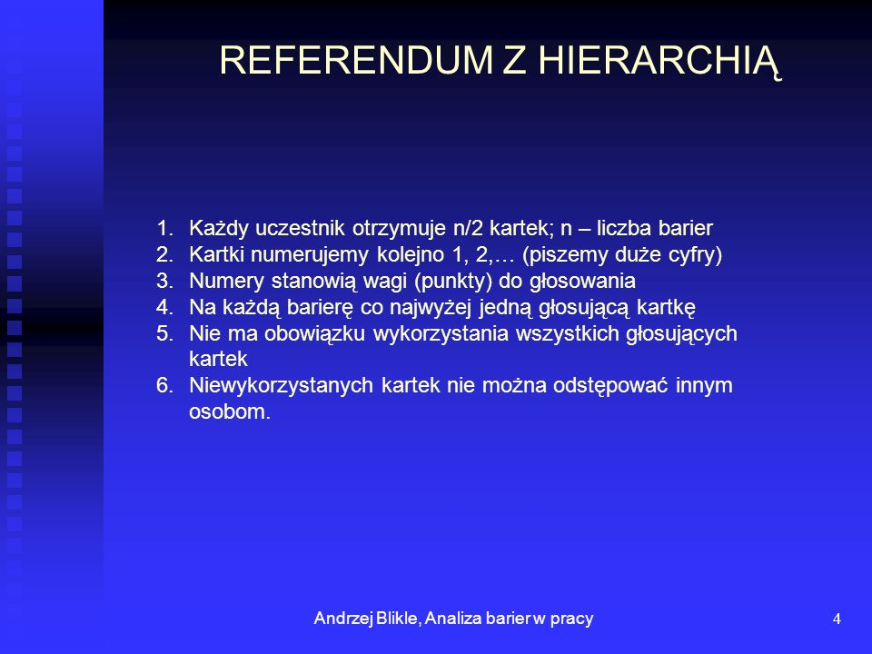 REFERENDUM Z HIERARCHIĄ