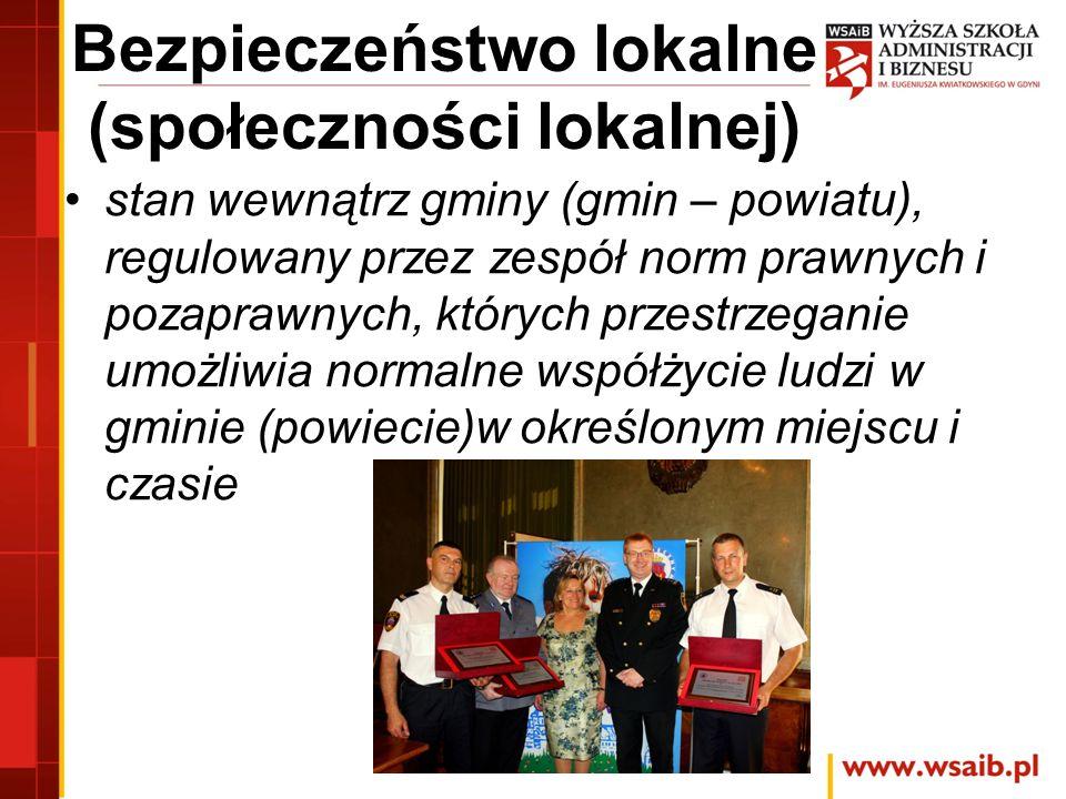 Bezpieczeństwo lokalne (społeczności lokalnej)