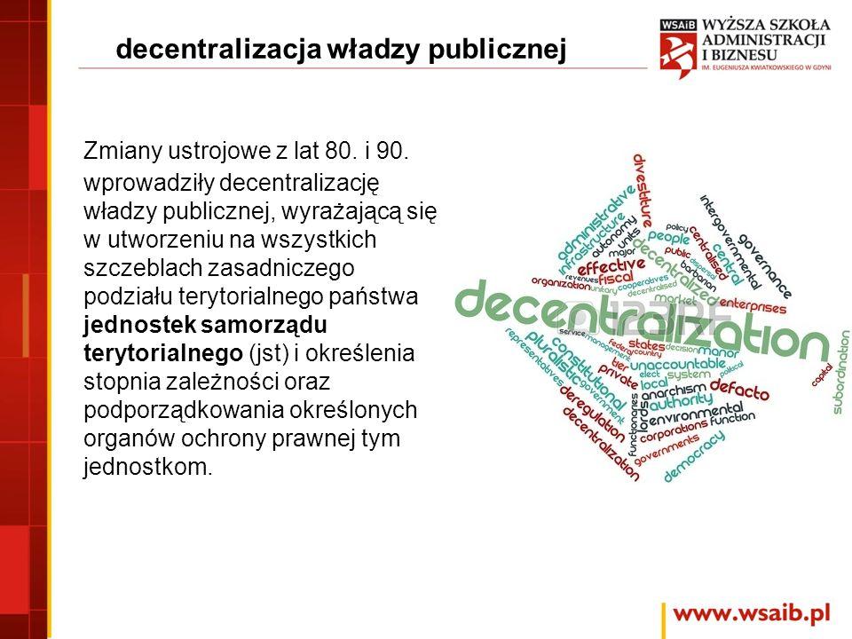 decentralizacja władzy publicznej