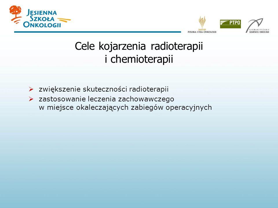 Cele kojarzenia radioterapii i chemioterapii