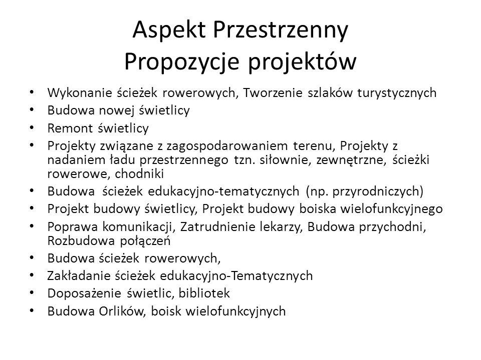 Aspekt Przestrzenny Propozycje projektów