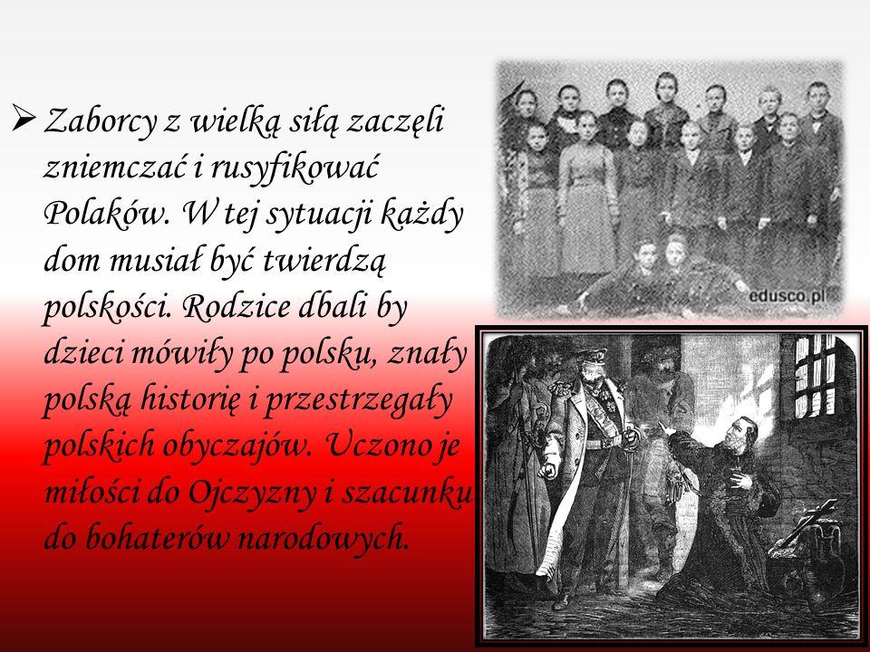 Zaborcy z wielką siłą zaczęli zniemczać i rusyfikować Polaków
