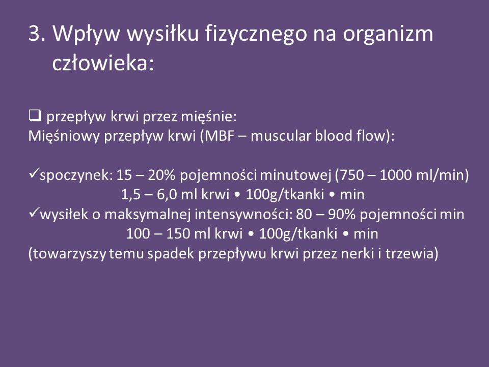 3. Wpływ wysiłku fizycznego na organizm człowieka: