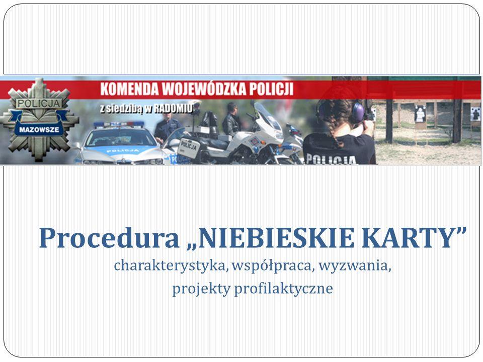 """Procedura """"NIEBIESKIE KARTY charakterystyka, współpraca, wyzwania,"""