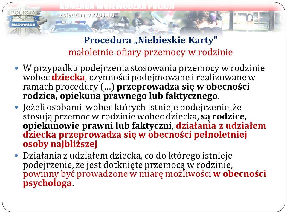 """Procedura """"Niebieskie Karty małoletnie ofiary przemocy w rodzinie"""