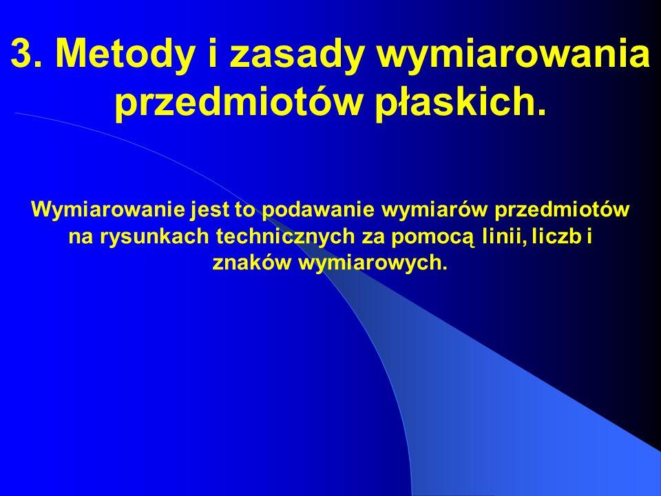 3. Metody i zasady wymiarowania przedmiotów płaskich.