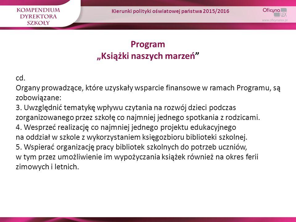 """Program """"Książki naszych marzeń"""