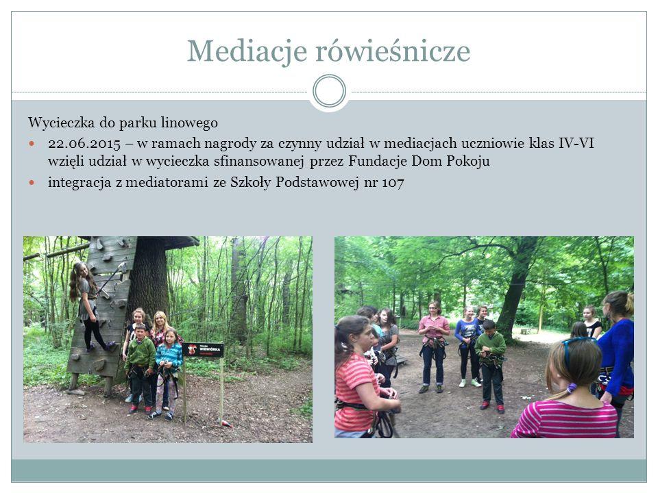 Mediacje rówieśnicze Wycieczka do parku linowego