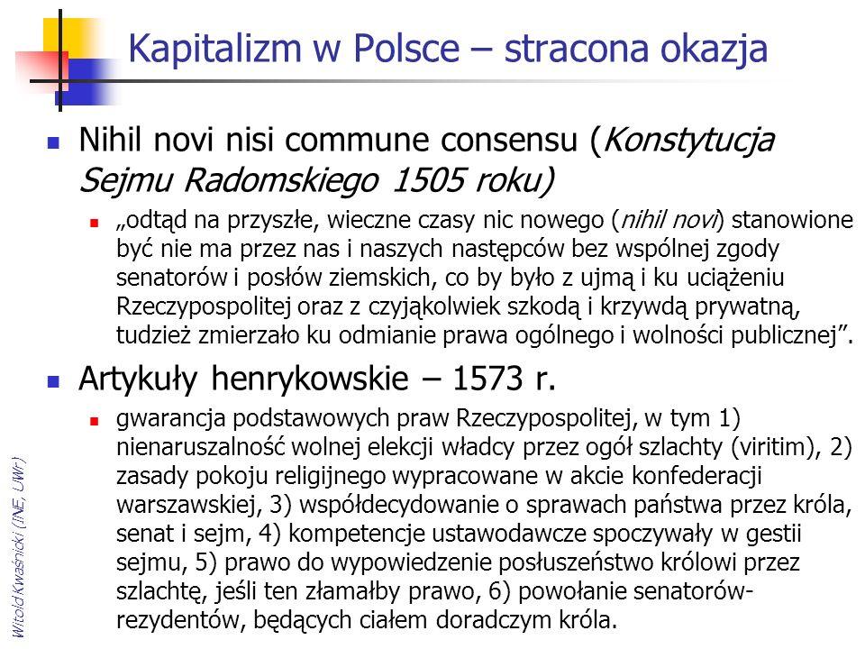 Kapitalizm w Polsce – stracona okazja