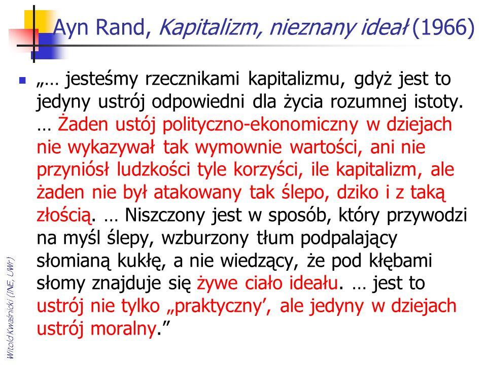 Ayn Rand, Kapitalizm, nieznany ideał (1966)