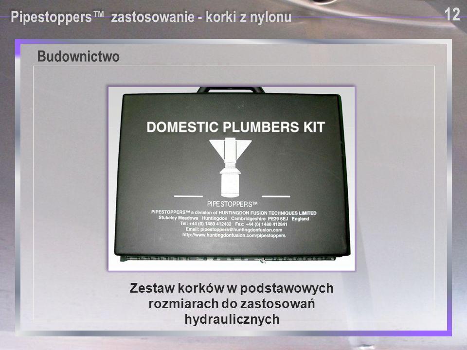 Zestaw korków w podstawowych rozmiarach do zastosowań hydraulicznych