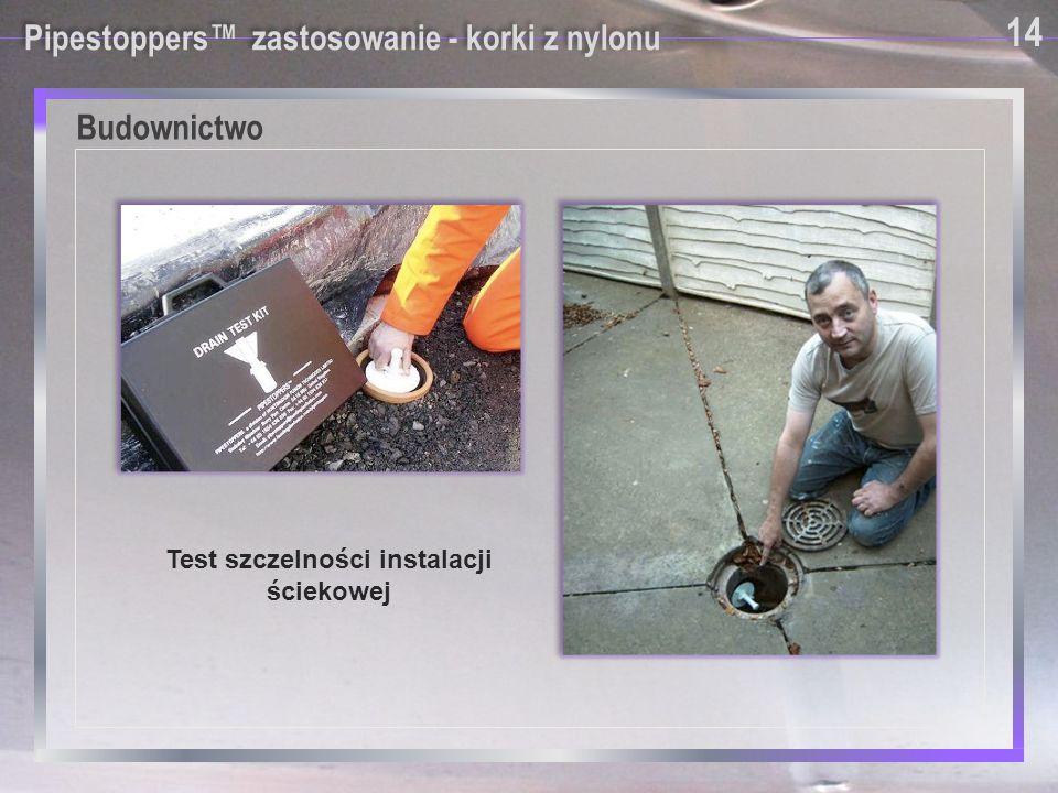 Test szczelności instalacji ściekowej