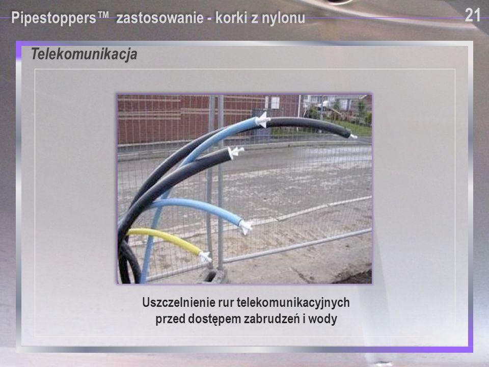 Uszczelnienie rur telekomunikacyjnych przed dostępem zabrudzeń i wody