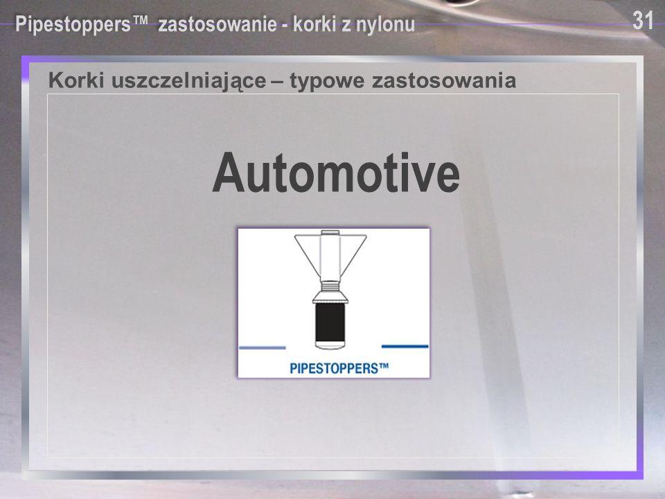 Automotive Korki uszczelniające – typowe zastosowania 31