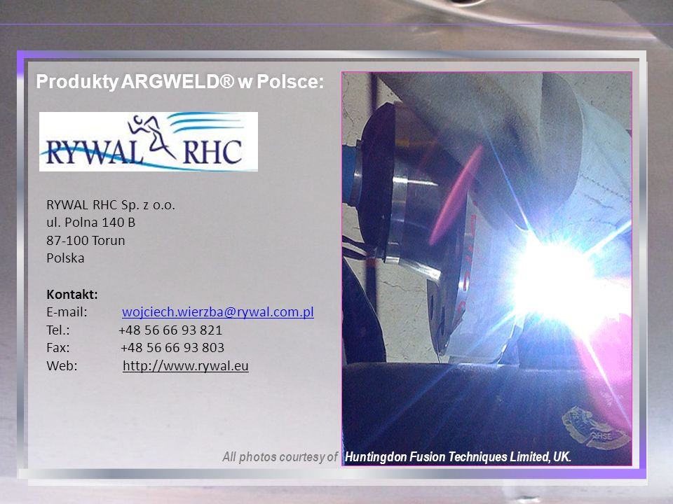 Produkty ARGWELD® w Polsce: