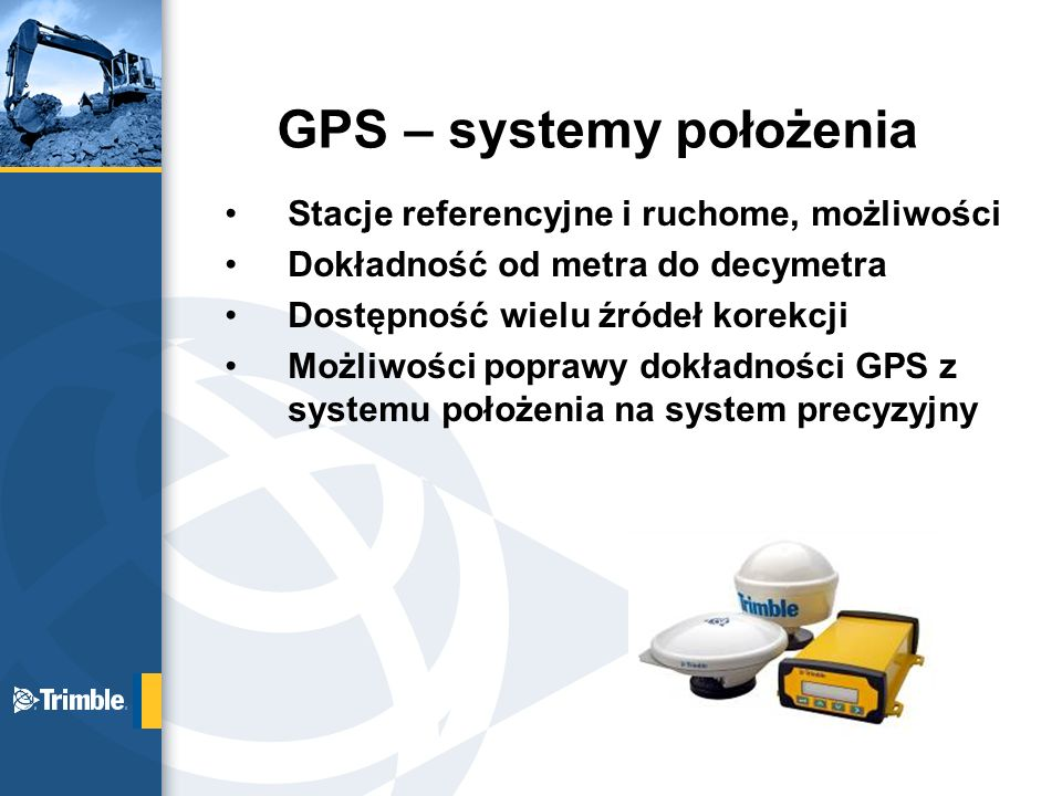 GPS – systemy położenia