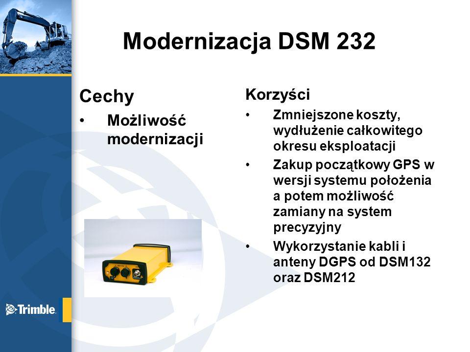 Modernizacja DSM 232 Cechy Korzyści Możliwość modernizacji