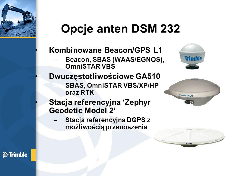 Opcje anten DSM 232 Kombinowane Beacon/GPS L1